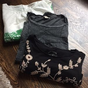 Lucky Brand embroidered tops bundle